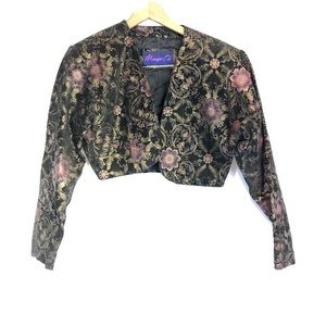 Midnight oil sz m cropped Vtg leather jacket 90s